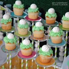 mini cupcakes displayed on The Pastry Pedestal™ www.thepastrypedestal.com