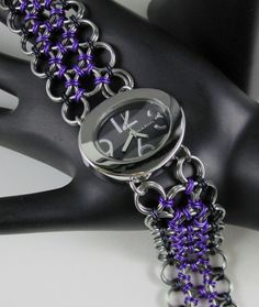 Japanese Lace watch with contemporary oval face