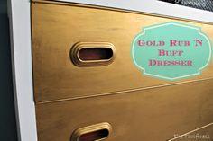 Gold Rub 'N Buff Dresser