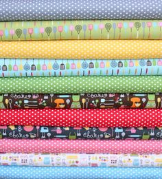 HELP ME WIN! i need 26 Repins!!!   Everything is Nice fat quarter bundle--11 pieces---2-3/4 yards total--Pink Light Designs for Robert Kaufman Fabrics. $26.12, via Etsy.