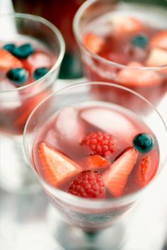 Delicious berry cocktails