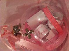 Baptism invitation made into a Christmas ornament...great keepsake idea!