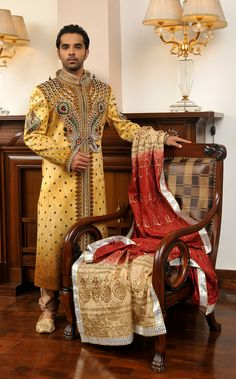 The Royal Indian Groom groom sherwani, indian groom, color combinations, groom wear