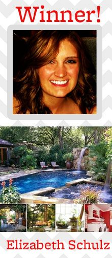 Congratulations to Pin & Win Finalist Elizabeth Schulz! See her winning board here: http://pinterest.com/esschulz/my-better-homes-and-gardens-dream-home/ dreams, dream pools, pool design, dream homes, hot tubs, landscape designs, backyard pools, garden, backyards