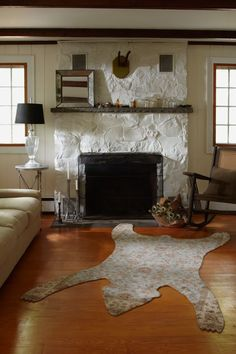 Painted Rock Fireplace | Danny Seo | Rue