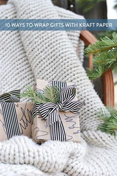 "Here are ten of our favorite creative ways to use brown kraft paper to wrap gifts. #[""yarn & string"", ""paper"", ""paint"", ""eclectic"", ""Christmas"", ""How-To"", ""rustic"", ""Creative Reuse"", ""Papercrafting"", ""wrap"", ""DIY"", ""wrapping-paper"", ""gift-wrap""]"