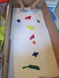 Tin Can Partner Painting by Teach Preschool