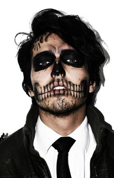 Male sugar skull makeup