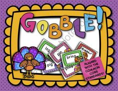 FREE!  Gobble Game:  CVC Words, Blends, and Digraphs from TeacherTam on TeachersNotebook.com (11 pages)