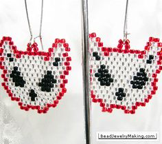 White cats earrings