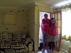 Couple arrive home from honeymoon to find house covered in 14,000 Post-it notes