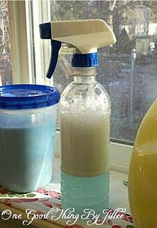 Make your own spray-on laundry stain remover!