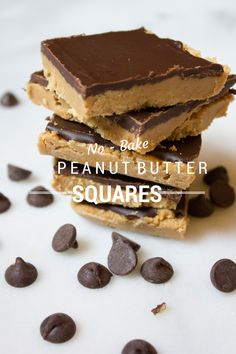 No Bake Peanut Butter Squares from @kellybakes