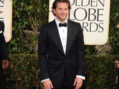 Bradley Cooper wore an eco-friendly Tom Ford tuxedo to the 2013 Golden Globes.
