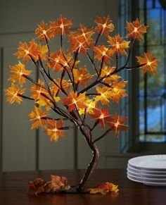 Lighted Maple Tree Branches Fall Decoration By Collections Etc