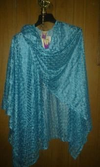 """V pretty cap or shawal metallic with lace v cute gift 4her free ship 4 $29.99 newt size L 66'w110"""""""