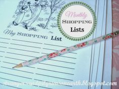 Strangers & Pilgrims on Earth: Monthly Shopping Lists ~ Free Printable