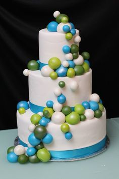 idea, weddings, bubbles, wedding cakes, green bubbl