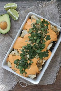 Black Bean Enchiladas with Roasted Red Pepper Cashew Cream