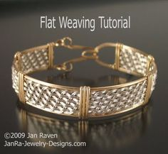 woven wire jewelry designs | Woven Wire Jewelry and Other Creative Endeavors: Flat weaving with ...
