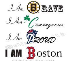 I am #Boston - #Bruins #RedSox #Patriots #Celtics #BostonStrong