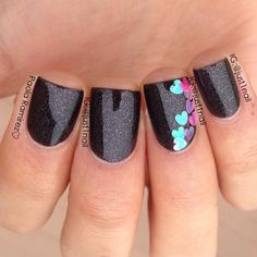 Black nails. Instagram by just1nail Nail art. Nail design. Polishes.  Polish. Polished.