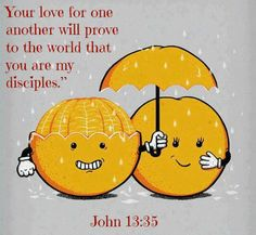 John 13:34 So now I am giving you a new commandment: Love each other. Just as I have loved you, you should love each other. 35 Your love for one another will prove to the world that you are my disciples.""