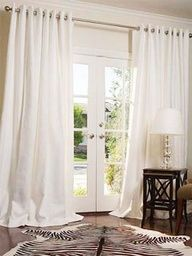 Drapes in front of French doors