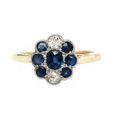 Birmingham is a sweet vintage Edwardian sapphire and diamond engagement ring! TrumpetandHorn.com // $2,950