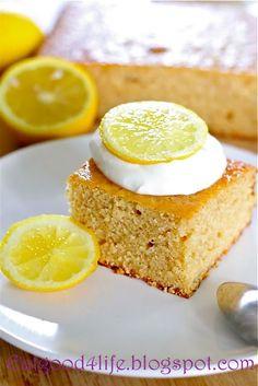 Whole grain lemonade cake - perfect taste for spring! lemon cakes, oat flour, grain lemonad, lemonad cake, cake oat, lemonade cake, whole grains, cookin treat, dessert