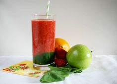 Peaches & Cream: The Fruit & Spinach Smoothie