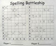 Spelling Battleship, make spelling fun!
