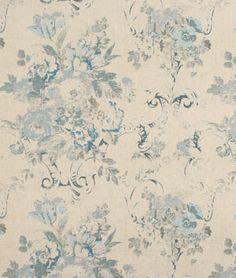 blue fabric, blue ralph lauren fabrics, floral blue