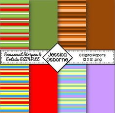FREE Seasonal Stripes and Solids Sampler. 8 Sheets!