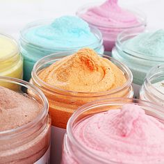 Sugar Whipped Soaps. A convenient scrub and soap in one! Made with skin loving moisturizers and cleansers derived from natural ingredients!