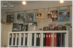 Great way to display scrapbook pages