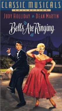 Bells Are Ringing (1966) a scatterbrained switchboard operator in Vincente Minnelli's musical comedy. The story centers on eavesdropping phone operator Ella, who goes incognito to help her problem-plagued customers. Eventually, she wins the heart of a handsome playwright, even though she'd been impersonating an old woman in their conversations.  Judy Holliday, Dean Martin, Fred Clark...Ts classic