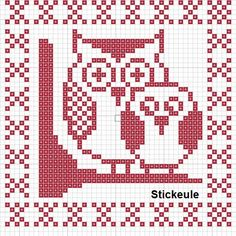 Stickeules Freebies: EULENMUSTER