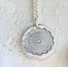 black lace fine silver necklace. another salt dough idea
