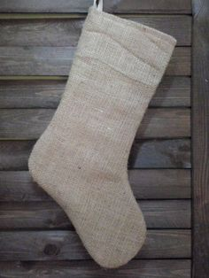 Set of 2 burlap stockings DIY Christmas decor by endulzar on Etsy, $20.00