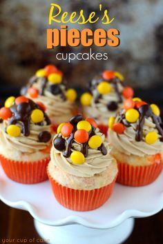Reese's Pieces Cupcakes - Your Cup of Cake