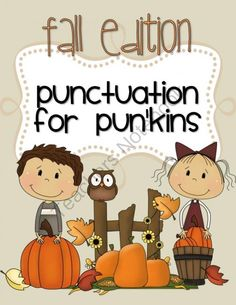 PUNCTUATION for PUNKINS Fall Edition (with PUNCTUATION RULE CARDS) from Preparilli Press on TeachersNotebook.com -  (16 pages)  - This PUNCTUATION for PUN'KINS Fall Edition will increase your students understanding of the rules for using quotation marks, capitals and commas. It is a follow-on to the Back to School Edition.