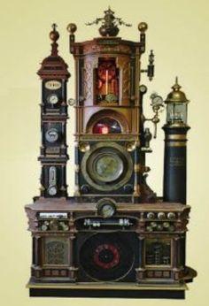 Steampunk clock...Looks like it should also make coffee
