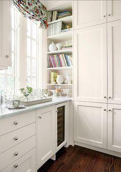 Shelving, shaker cabinet door