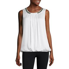 Cute blouse #sponsored jcpenney.com | Alyx Sleeveless Scoop Neck Blouse