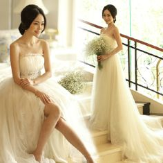 Gorgeous and elegant full length wedding gown. Classy and timeless design