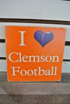 Clemson football wooden painted sign college by scrapartbynina, $25.00