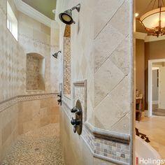 Shower walls on pinterest shower tiles tiled showers for Walk through shower plans
