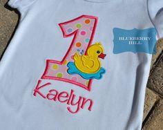 1st 2nd 3rd 4th 5th Birthday Girl Rubber by BlueberryHillBoutiq, $19.50 Brianna Birthday, Duck Birthday, Birthday Idea, 5Th Birthday, 1St Birthday