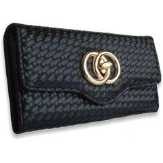 Peňaženka kožená Lock, čierna 12556 - VašeKabelky.sk